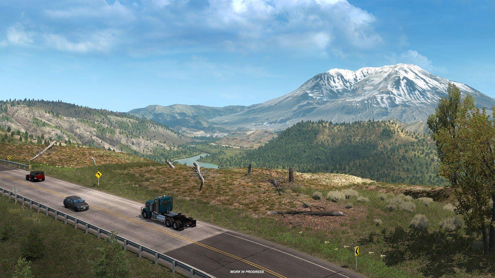 Гора Сент-Хеленс из дополнения American Truck Simulator – Washington