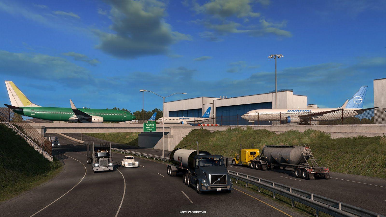 Эвереттский Аэрокосмический завод из дополнения American Truck Simulator – Washington