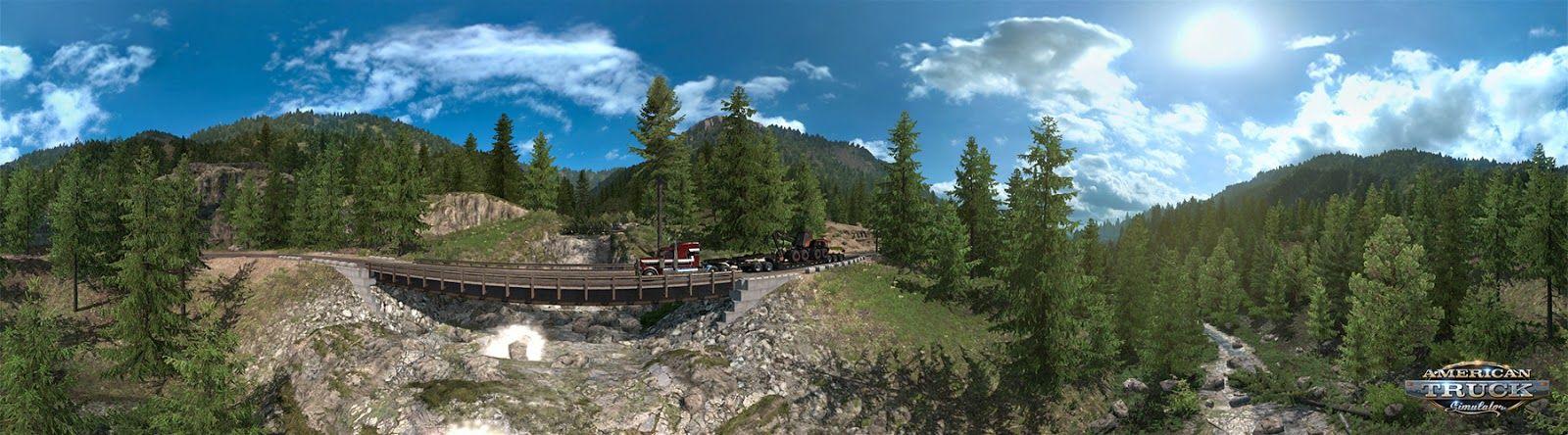 American Truck Simulator: Washington – дороги к лесозаготовительным точкам [Часть 2]