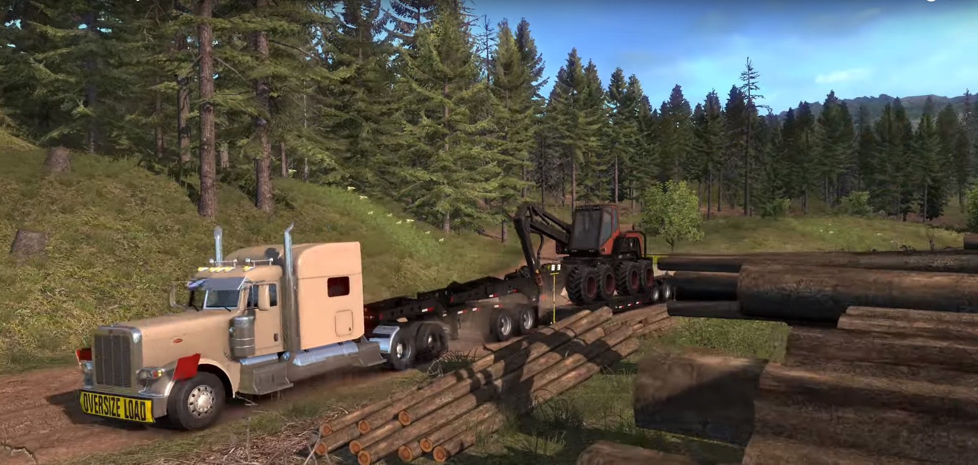 Состоялся релиз дополнений American Truck Simulator: Washington и Forest Machinery DLC