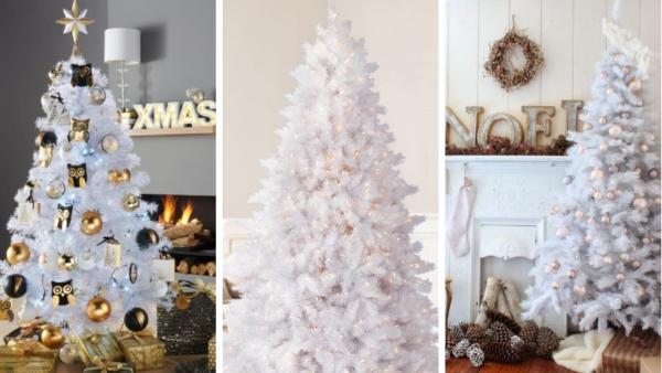 Белые искусственные елки в интернет магазине