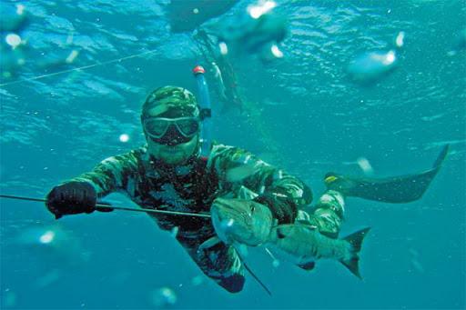 Подводная охота в Казахстане на озере Балхаш