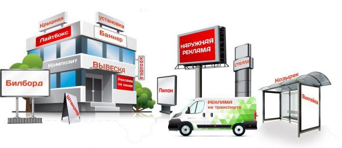 Наружная реклама «под ключ» в Москве недорого